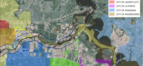 Map of Houston Ship Channel created by Knudson, LP