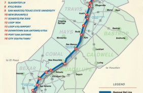 Lone Star Rail District Proposed Stations
