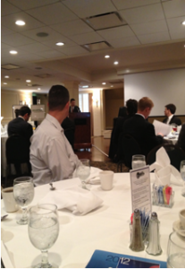 Jazz Hamilton of CBRE speaks to the crowd at the O'Connor and Associates Retail Forecasting Breakfast.