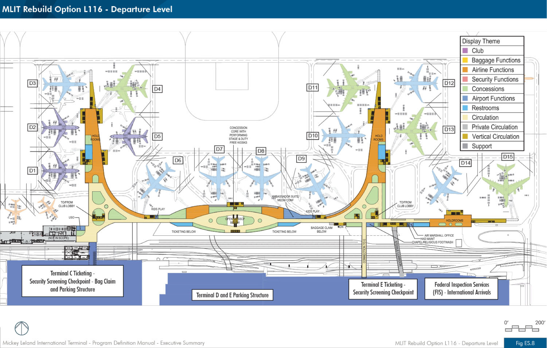 George Bush Intercontinental Airport IAH Mickey Leland - Houston terminal map